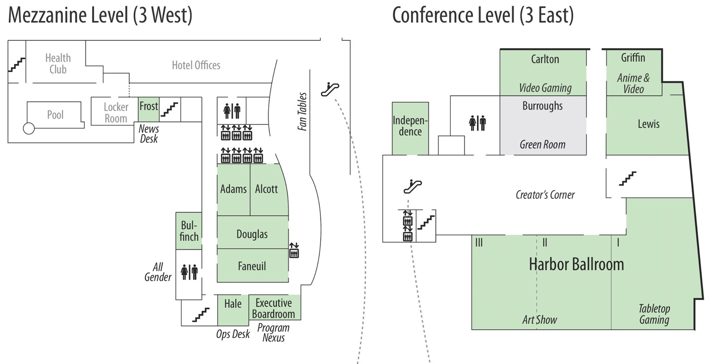 Westin mezzanine level map